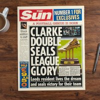 The Sun Personalised Spoof Newspaper Article - Football Genius - Football Gifts