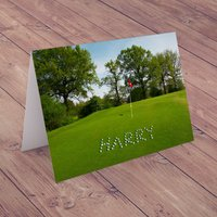 Personalised Card - Golf Balls - Golf Gifts