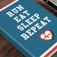 Personalised Diary - Eat Sleep Repeat - Diary Gifts