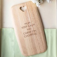 Personalised Colonial Large Chopping Board - Keep Calm - Chopping Board Gifts