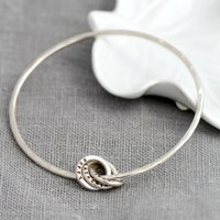 Personalised Posh Totty Designs Russian Ring Bangle With Charm