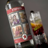 Photo Upload Vodka - 4 Photos & Name - Vodka Gifts