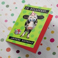 Personalised Birthday Card - Oh Bullocks! Cow - Cow Gifts