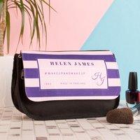 Personalised Makeup Bag - #WAKEUPANDMAKEUP - Makeup Gifts