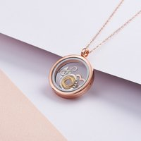 Personalised Posh Totty Designs Rose Gold Floating Necklace - Posh Gifts