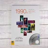 Personalised 1990s History Of Music Book - Music Gifts