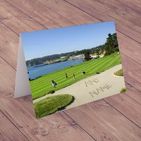 Personalised Card - Golf Bunker - Golf Gifts
