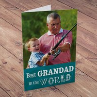 Photo Upload Card - Best Grandad - Grandad Gifts