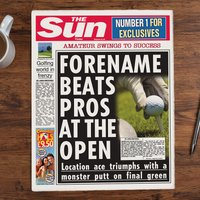 The Sun Personalised Spoof Newspaper Article - Golf Champion