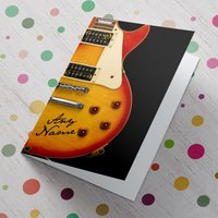 Personalised Card - Guitar Signature - Guitar Gifts