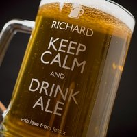 Personalised Pint Tankard - Keep Calm and Drink Ale - Ale Gifts