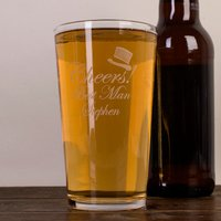 Personalised Pint Glass - Cheers Best Man - Best Man Gifts