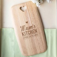 Personalised Colonial Large Chopping Board - Open 24 Hours - Chopping Board Gifts
