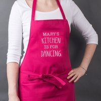 Personalised Apron - Dancing In The Kitchen - Dancing Gifts