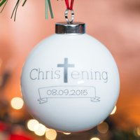 Personalised Bauble - Christening