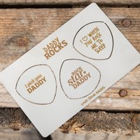 Personalised Wallet Guitar Plectrums - Daddy Rocks - Guitar Gifts