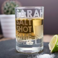 Personalised Shot Glass - Salt Shot Lime Repeat - Shot Glass Gifts
