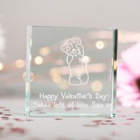 Personalised Me To You Glass Token - Happy Valentine's Day