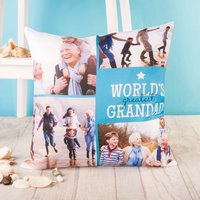 Multi Photo Cushion - World's Greatest Grandad - Grandad Gifts
