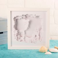 Mermaid Framed Papercut Mood Light - Mermaid Gifts