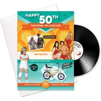 50th Birthday Card Book With Music Download - 50th Gifts