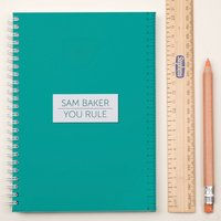 Personalised Notebook - Teacher You Rule! - Teacher Gifts