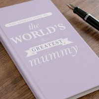 Personalised Address Book - The World's Greatest Mummy - Book Gifts