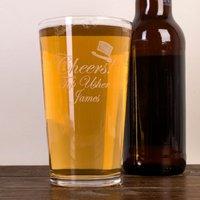 Personalised Pint Glass - Cheers Usher