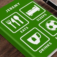 Personalised Diary - Football Life - Football Gifts
