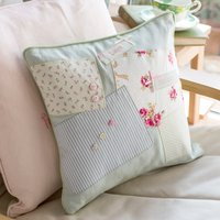 Personalised Duck Egg Patchwork Cushion - Duck Egg Gifts