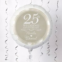 Personalised Large Helium Balloon - 25th Wedding Anniversary - Wedding Anniversary Gifts