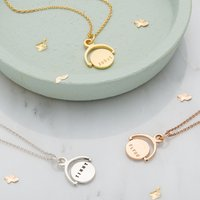 Personalised Posh Totty Designs Mini Spinning Necklace - Posh Gifts