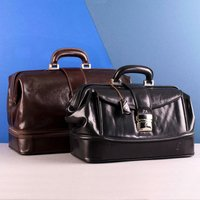 Embossed Donnini Italian Leather Doctor's Bag - Italian Gifts