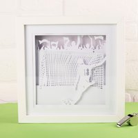 Football Framed Papercut Mood Light - Football Gifts