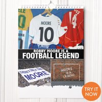 Personalised Football Calendar - 1st Edition - Football Gifts