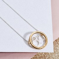 Personalised Posh Totty Designs Circle Letter Necklace - Posh Gifts