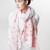 Personalised Lisa Angel Pink Flamingo Scarf - Flamingo Gifts