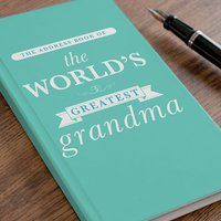 Personalised Address Book - The World's Greatest... - Book Gifts