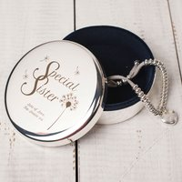 Engraved Circular Trinket Box - Special Sister - Sister Gifts