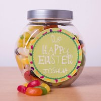 Personalised Jelly Beans Jar - Happy Easter