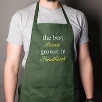 Personalised Gardening Apron - The Best Grower - Gardening Gifts