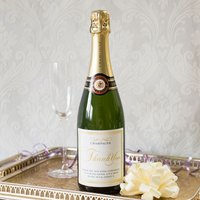 Luxury Personalised Champagne - Thank You Gold
