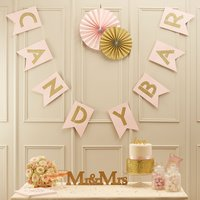 Pastel Perfection Candy Bar Bunting - Candy Gifts