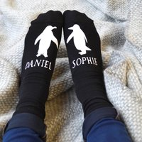 Personalised Penguin Socks - Penguin Gifts