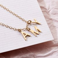 Personalised Posh Totty Designs Letter Name Necklace - Posh Gifts
