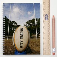 Personalised Notebook - Rugby - Rugby Gifts