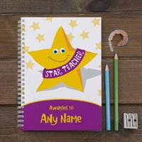 Personalised Notebook - Star Teacher - Teacher Gifts