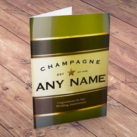 Personalised Card - Anniversary Champagne