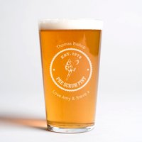 Personalised Pint Glass - Pre Rugby Scrum Pint