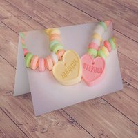 Personalised Card - Love Heart Sweets - Sweets Gifts